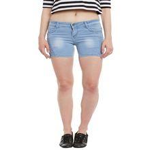 High Quality Women Light Blue Short Pants