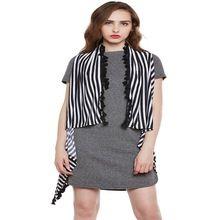 Women Stripe Shrug With Latken