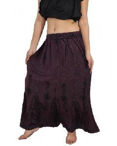 Peasant Bohemian Full Length Gypsy Skirt
