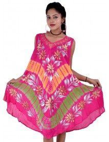 Rayon Casual Summer Tie Dye Dress