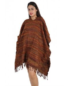 Women Long Woolen Ponchos For Winters