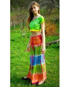 Women Tie Dye Harem Pants Wide Bottom