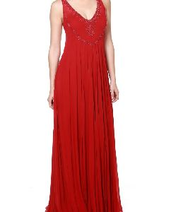 Beaded Red Gown