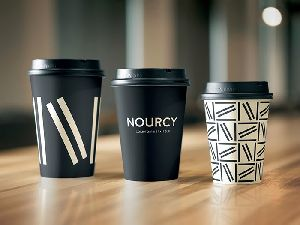 Single Colour Custom Printed Paper Cup - Mr Paper Cup