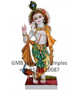 Ndian God Krishna Statue From Marble