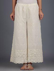 chikenkari palazzos pants for women