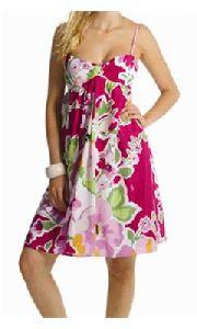 Floral Printed Noodle Strap Dress