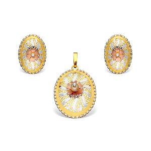 Italian Gold Pendant Set