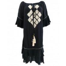 Embroidered Caftan Tassels Beads Dress