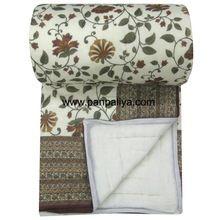Jaipuri Handmade Hand Block Print Double Bed Cotton Quilt