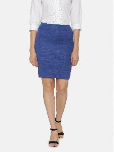 Rise Formal Knee Hemline Back Vent Knitted Pencil Skirt