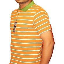 Yarn Dyed Striped Polo T-shirt