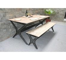 Canteen Restaurant Outdoor Wood Dinning Bench Table