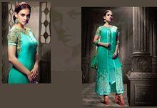 Anarkali Semi Stitched Dress