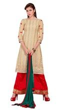 Semi Stitched Georgette Embroidered Plazo Suit Online Shopping In India Sura