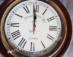 Nautical Brass & Wooden Antique Wall Clock