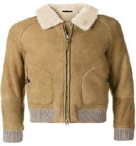 sheep skin shearing bomber jacket