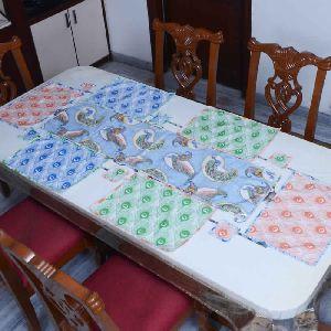 Peacock Printed Table Linen Linen Runner Coster Mats