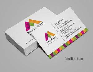 multicolour visiting cards