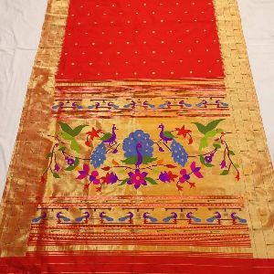 Pure Silk Handloom Yeola Paithani Saree