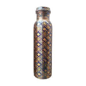 Handmade Printed Copper Bottle