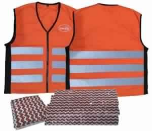 COOLING SAFETY VEST ORANGE WITH ICE PACK