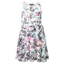 White Flowers Chiffon Girls Dress