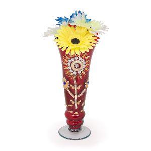 Brown Glass Flower Vases