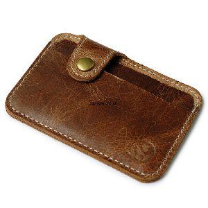 Dark Brown Leather Card Holder
