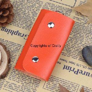 Leather Orange Key Holder