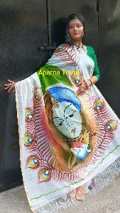 Hand Painted Cotton Silk Saree