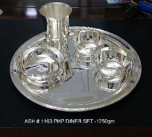 Silver Plated Plain Dinner Set