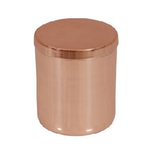 Copper Candle Jar With Lid