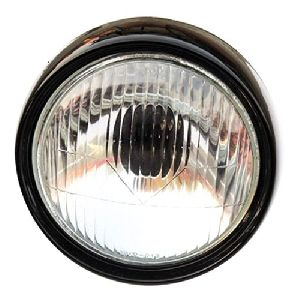 Vespa Bajaj Chetak Scooter Headlamp / Headlight Assembly Black Rim