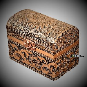 Small Box Trinket Jewelry Box - Handicraft Copper Metal Box - Velvet Top Round Box - Handmade Box