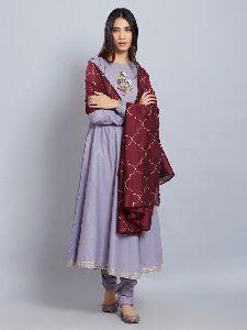 Chanderi Silk Churidar Suits