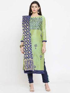 Chanderi Silk Unstitched Suits