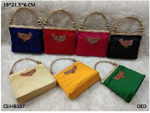 Peacock Silk Handbag