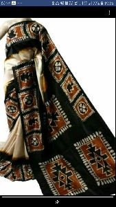 Cotton Hand Batik Printed Saree