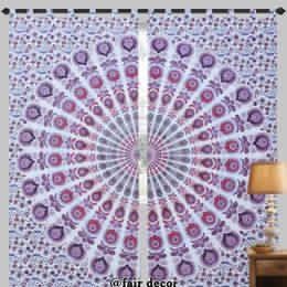 Mandala Window Loop Cotton Curtains
