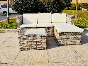 5 Piece Steel Rattan Sofa Set