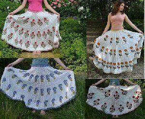 Block Printed Long Skirts