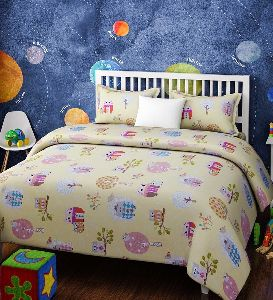 Cartoon Printed Double Bed Sheets