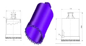 Core Barrel Without Discharge Flange