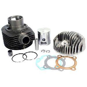Vespa Px 150cc Lml Cylinder Piston Kit With Cylinder Head 5 Port