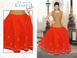 Chanderi Silk Skirts