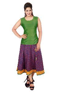 Cotton Knee Length Skirts