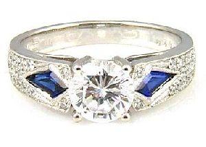 .72 Ct Diamond & 18KT White Gold Semi Mount Ring