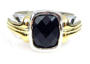 Sterling Silver Genuine Onyx Ring