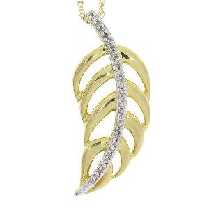 .05 Ct Diamond & 10KT Yellow Gold Pendant